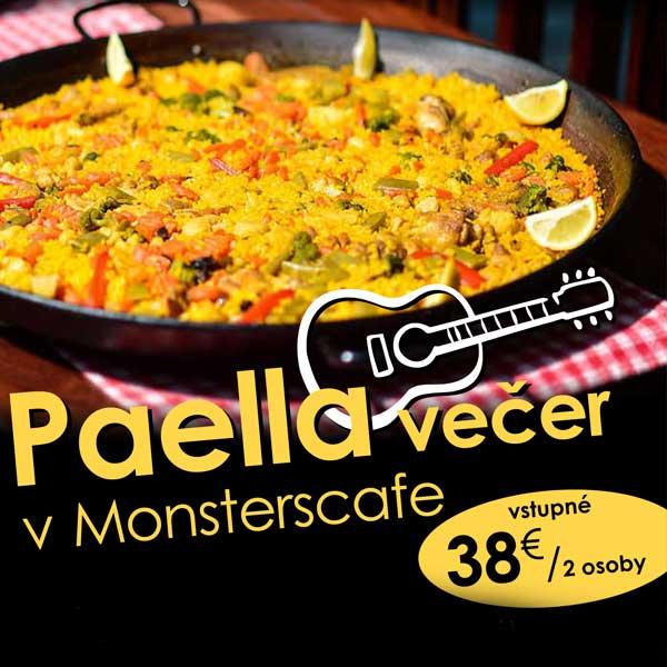 Paella večer v Monsterscafe