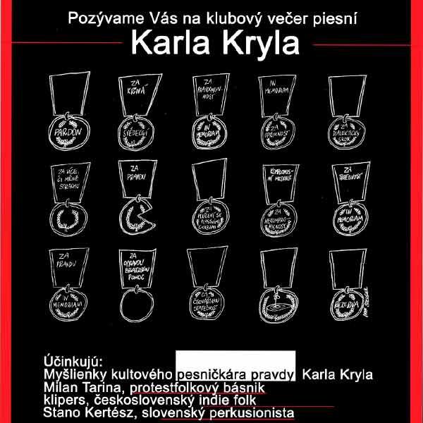 Klubový večer piesní Karla Kryla
