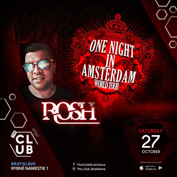 ROSH - ONE NIGHT IN AMSTERDAM