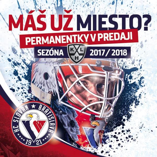 KHL - HC SLOVAN permanentka 2017/2018