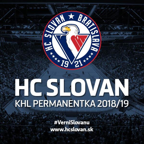 KHL - HC SLOVAN permanentka 2018/2019