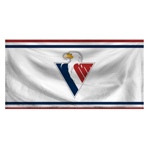 Vlajka logo Slovan - 95x145 biela