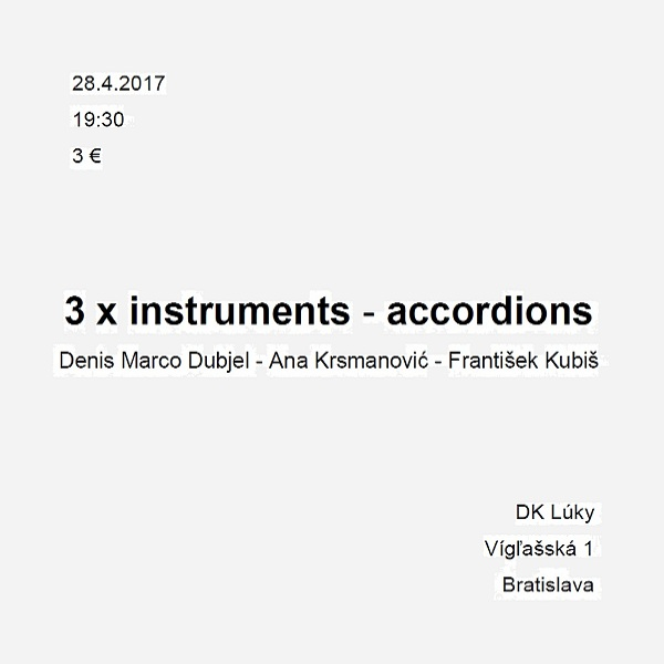 3 x instruments - accordions  -  MC