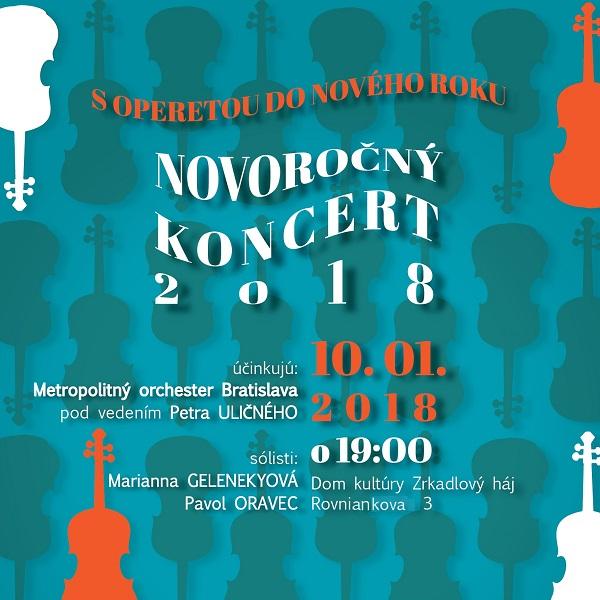 S operetou do Nového roku - Novoročný koncert 2018